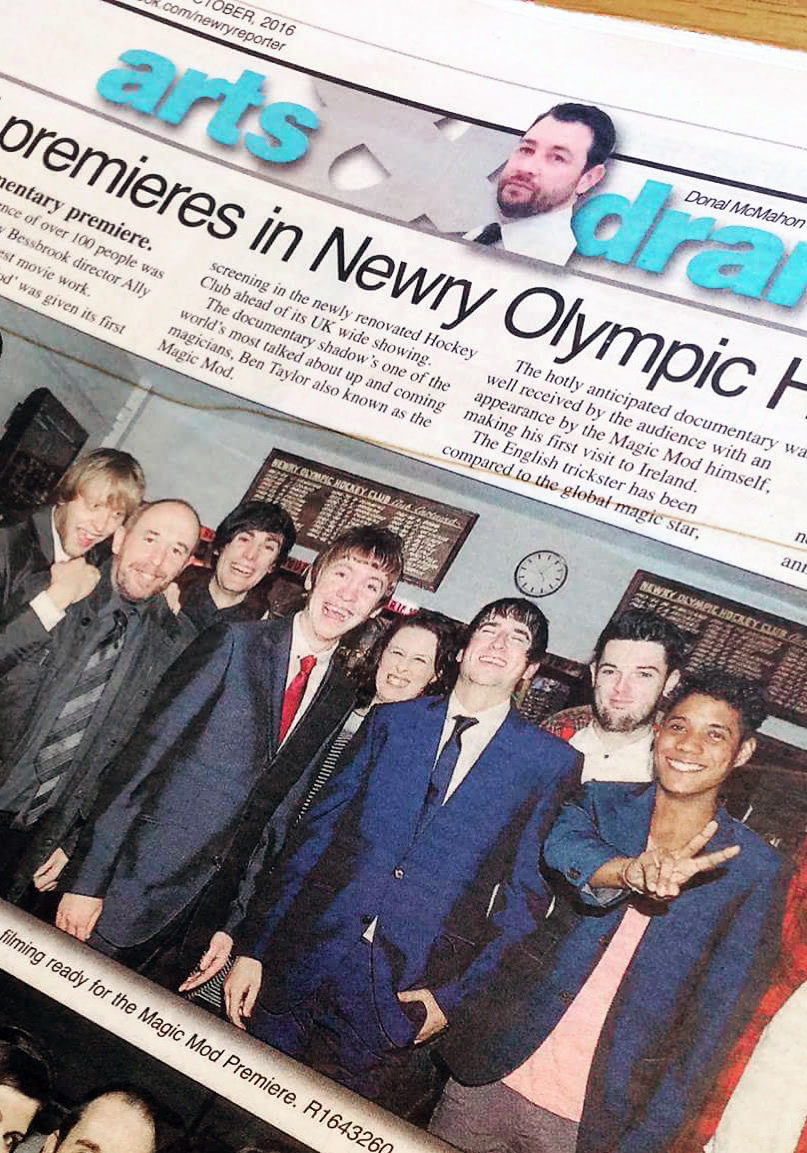 The premiere, as reported in 'The Newry Reporter'